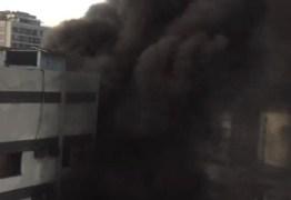 Incêndio de grandes proporções atinge hospital do Rio de Janeiro