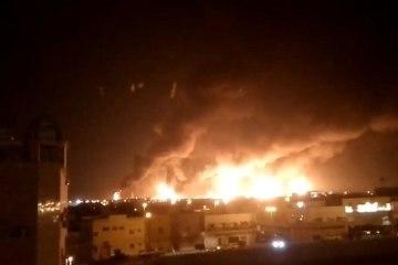 incendio refinaria saudita drones 14092019165136544 - Rebeldes do Iêmen atingem a maior refinaria saudita com drones