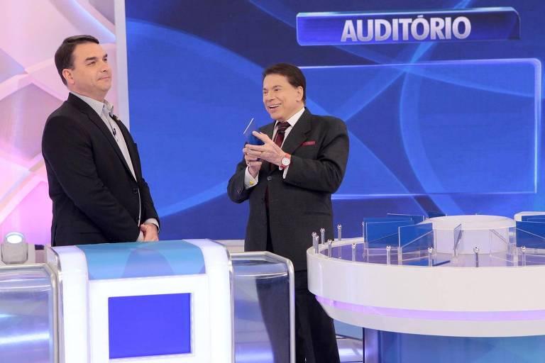 silvio santos - Presidente do Senado e filho de Bolsonaro usam verba pública para viajar a SP e gravar programa com Silvio Santos