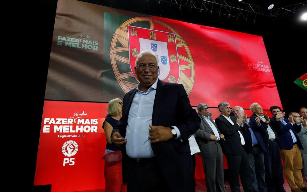 2019 10 03t114941z 1473858938 rc1d386f6fe0 rtrmadp 3 portugal election austerity - Com 95% das urnas apuradas, Partido Socialista lidera em Portugal
