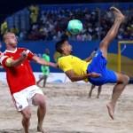 2019 10 16t180644z 178759290 rc1ca1e4ae20 rtrmadp 3 beach soccer - Brasil tem dia dourado nos Jogos Mundiais de Praia