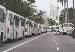 VEÍCULOS PARADOS: Motoristas de transportes coletivos paralisam atividades e ocupam Parque da Lagoa
