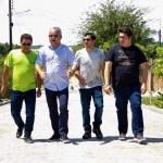 72450707 381040582774697 1117146192262725632 n - Prefeito e secretários vistoriam obras de pavimentação em ruas de Alhandra e destacam celeridade dos serviços