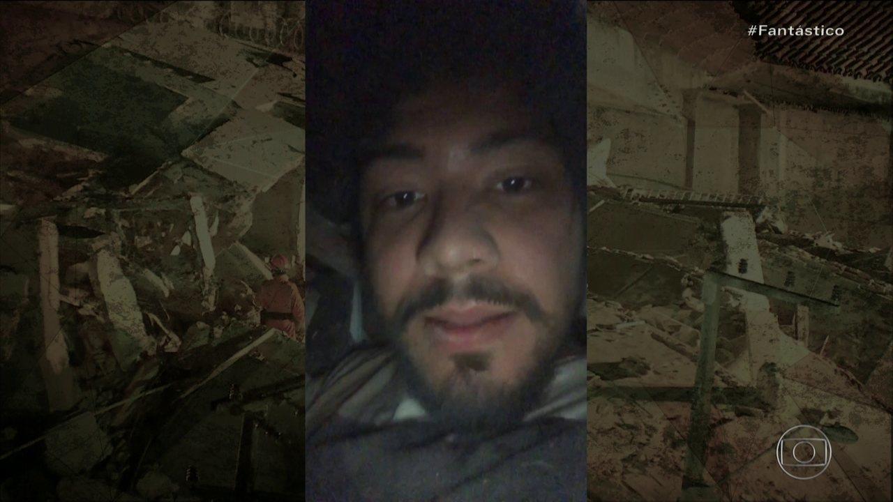8019712 x720 - Jovem que fez selfie nos escombros após queda de prédio, mostra vídeo feito durante soterramento