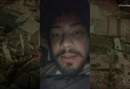 Jovem que fez selfie nos escombros após queda de prédio, mostra vídeo feito durante soterramento