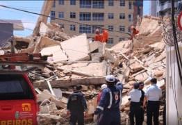Bombeiros confirmam uma morte no desabamento do prédio em Fortaleza