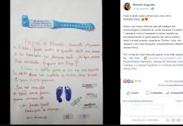 Em Manaus, enfermeiros escrevem carta emocionante a pais que perderam bebê e foto viraliza