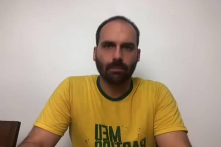 EDUARDO BOLSONARO - CAGAM NA CABEÇA DA SOCIEDADE: Eduardo Bolsonaro se manifesta sobre soltura de Lula e compara a situação com Caso Marielle