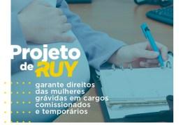 Projeto de Ruy garante direitos das mulheres grávidas em cargos comissionados e temporários