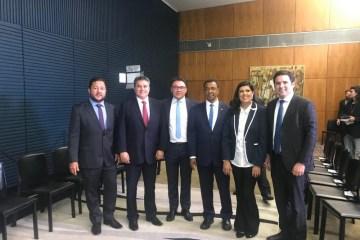 Rodrigo Maia empossa os paraibanos Damião Feliciano e Heron Cid no Conselho de Comunicação da Câmara Federal