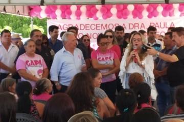 Drª Paula participa do lançamento da campanha 'Outubro Rosa' em Cajazeiras