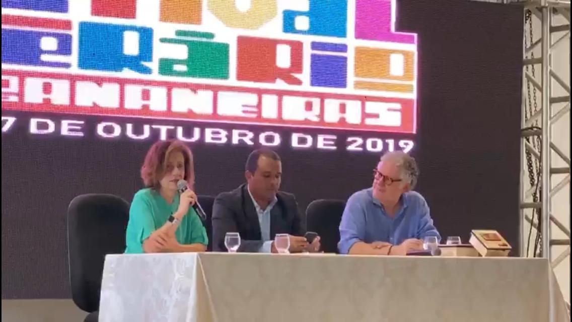 WhatsApp Image 2019 10 27 at 11.25.32 - FESTIVAL LITERÁRIO: Mirian Leitão critica Jair Bolsonaro e relembra polêmica com Nordeste: 'Paraíba é elogio' VEJA VÍDEO