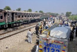 TRAGÉDIA EM FERROVIA: Explosão de botijão em trem mata mais de 70 no Paquistão