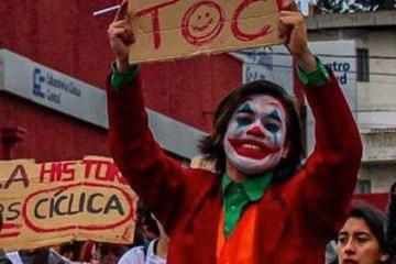 coringa2 - Coringa vira símbolo das manifestações no Chile