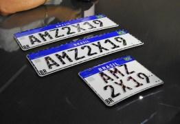 Placas padrão Mercosul começam a ser usadas a partir de 11 de novembro na PB
