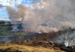 Incêndio atinge zona rural de Monteiro, na Paraíba