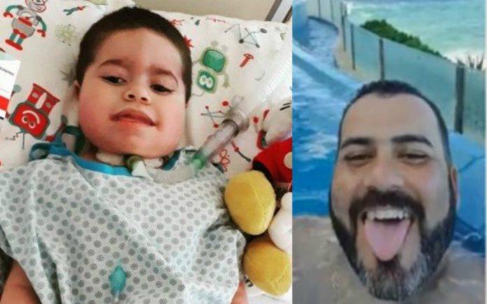 joao miguel e pai fraudador 696x435 - Morre criança que teve dinheiro de tratamento desviado pelo pai