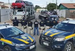 Quase 300 veículos roubados são apreendidos em operação da PRF na PB, no PI e MT