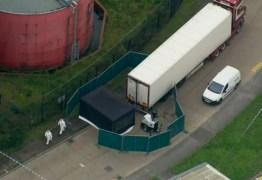 Polícia encontra 39 corpos em baú de caminhão