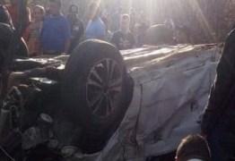 Duas pessoas morrem em grave acidente de carro no Sertão da Paraíba