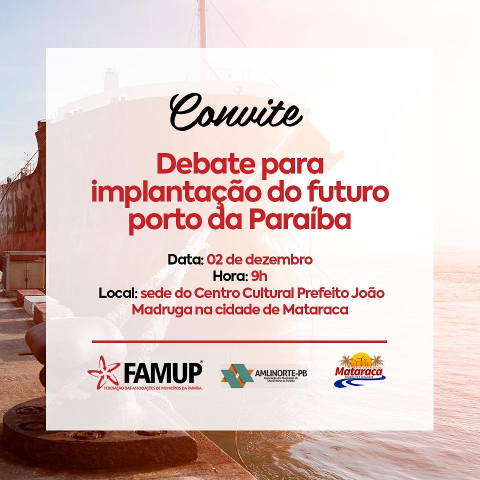 8bf7d991 548e 41da 8282 eb0e8f171ecf - Famup promove debate, em Mataraca, sobre implantação do Porto da Paraíba