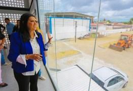 Lígia Feliciano visita obras de complexo educacional José Lins do Rêgo e destaca qualidade de investimentos