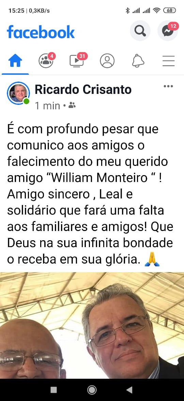 WhatsApp Image 2019 11 22 at 18.53.36 1 - LUTO: morre jornalista paraibano William Monteiro, secretário particular de Cássio Cunha Lima