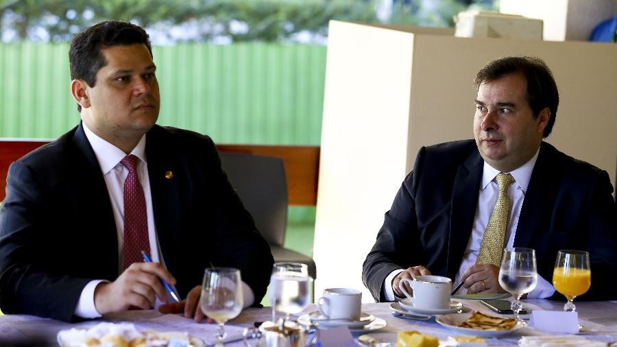 alcolumbre maia marcelo camargo abr - Maioria do Congresso se diz a favor da prisão após condenação em 2ª instância