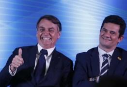 """Bolsonaro cogita Moro como vice em 2022 e vê chapa como """"imbatível"""""""