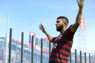 gabigol simulacao flamengo river pes2020 - Gabigol faz dois, e Flamengo bate River em simulação de final da Libertadores