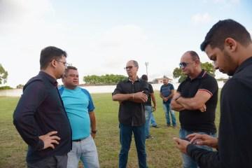 lourival 2 - Prefeito Berg Lima faz visita técnica ao estádio Lourival Caetano e promete reabertura