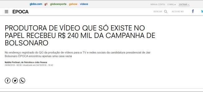 """printo e1573156317517 - MULTA E DIREITO DE RESPOSTA: Empresa que fez propaganda de Bolsonaro e foi acusada pela Época de ser """"fantasma"""" ganha causa na justiça"""