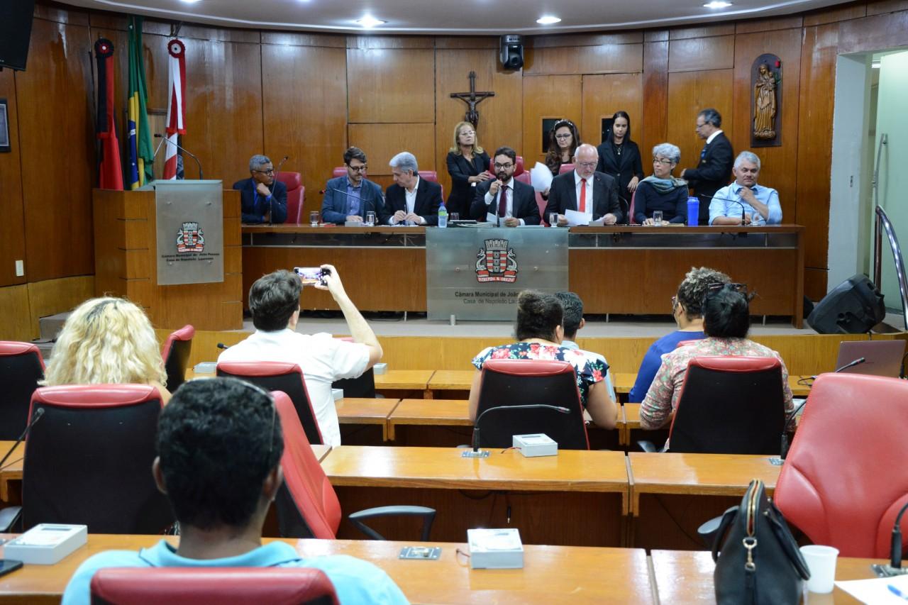 sessão de mobilidade - CMJP realiza debate sobre novo Plano de Mobilidade Urbana da Região Metropolitana de João Pessoa