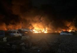 Incêndio atinge depósito de carros da Polícia Militar em Recife; VEJA VÍDEO