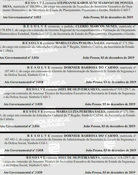 824c7b07 3c4a 4d9a 9a0d 2e92c0c50d65 - Um dia após governador deixar o PSB, Diário Oficial do Estado registra mais de 40 exonerações