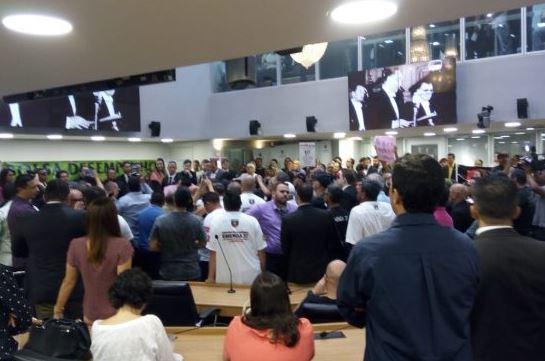 Capturar5 - REFORMA DA PREVIDÊNCIA: Servidores da PM ocupam plenário e pedem audiência na ALPB