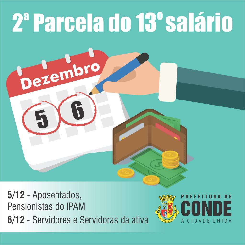 Décimo terceiro - Prefeita Márcia Lucena anuncia o pagamento da segunda parcela do 13º salário para os dias  5 e 6 de dezembro