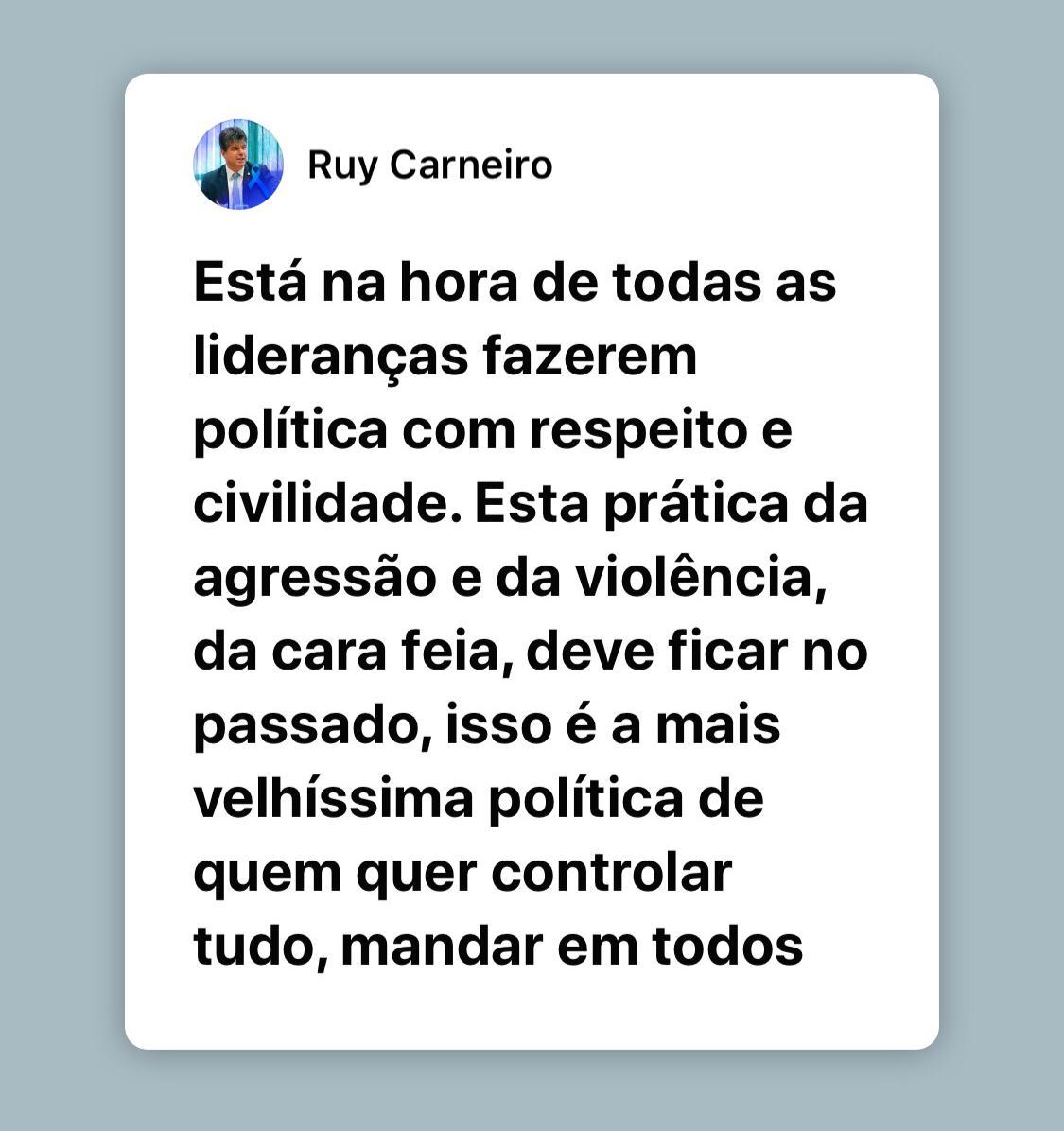 IMG 20191204 WA0043 - 'Esse jogo da velhíssima política não tem mais cabimento', diz Ruy sobre agressões de Ricardo contra João