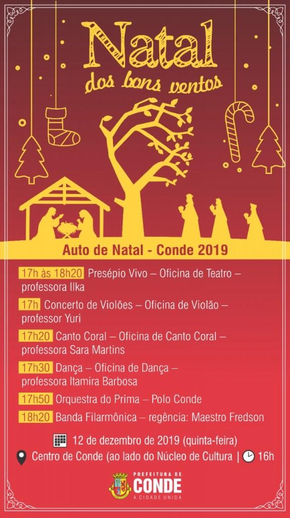 Natal dos Bons Ventos 2019 1 - Segunda edição do 'Natal dos Bons Ventos' acontece nesta quinta-feira em Conde