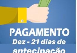 São José de Piranhas inicia pagamento da segunda parcela do 13° salário e folha de Dezembro.