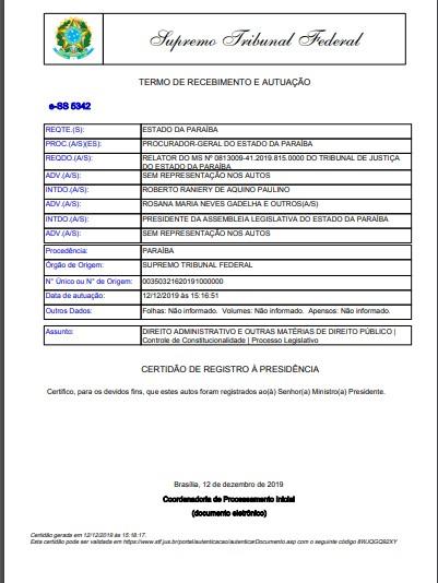 TOFFOLI 2 - PBPREV: recurso do Estado para manter rito de votação está 'concluso para julgamento' no gabinete de Toffoli; LEIA