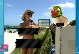 """Ana Maria tira a roupa em praia de nudismo e lembra: """"Show de horror"""""""