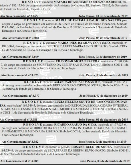 de8da033 b9cb 4a40 87f2 21dd8beb5855 - Um dia após governador deixar o PSB, Diário Oficial do Estado registra mais de 40 exonerações
