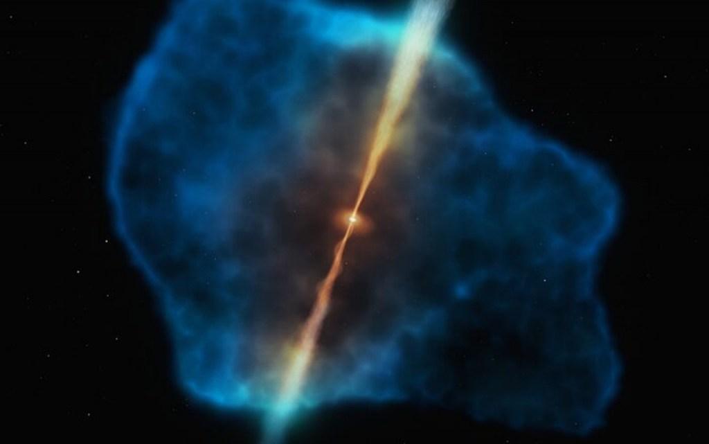 gas2 simulacao 1024x641 - Astrônomos observam pela primeira vez 'café da manhã' de um buraco negro