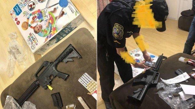 xblog rifle.jpg.pagespeed.ic .Lz2EQwcqDN - Mulher compra cadeira de balanço para bebê e recebe rifle com balas
