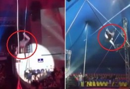 Acrobatas sofrem quedas graves em circos da Rússia; VEJA VÍDEO