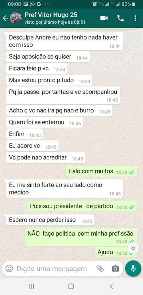 83277066 2716968388370234 3338577610752917504 o - BOMBA: ameaças e interferências vazam em conversa de Whatsapp entre prefeito de Cabedelo e ex-secretario de saúde - CONFIRA