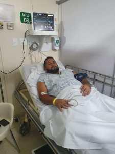 88891724 A819 4F59 B3A2 74FE57702011 - Vereador de Bayeux é internado às pressas para realizar cirurgia de emergência