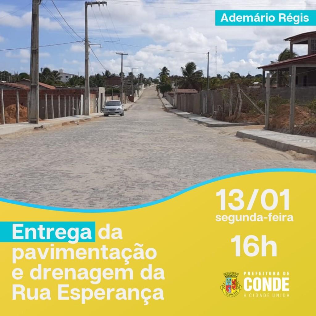Pavimentação Convite - Prefeita Márcia Lucena entrega nesta segunda, obras de pavimentação e drenagem no conjunto Ademário Régis