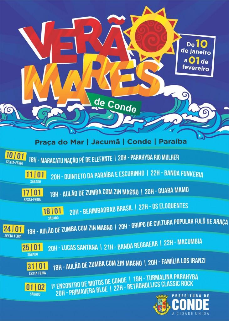 Verão Mares de Conde Programação - Festival 'Verão Mares de Conde 2020' apresenta música, dança e teatro na Praça do Mar em Jacumã